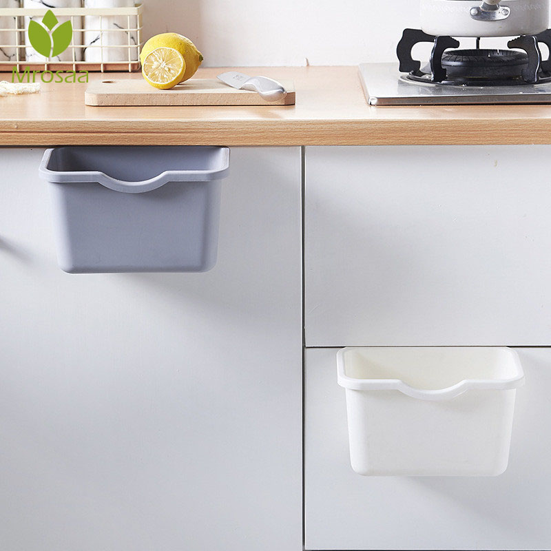 Bin Trash-Can Cabinet-Door Can-Rubbish-Container Hanging Desktop Kitchen Mini Hot-Sale