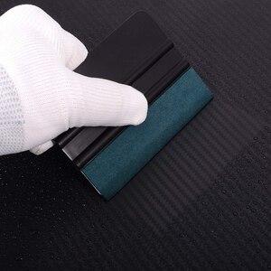 Image 5 - Foshio 3Pcs Vinyl Wrap Auto Tool Kit 100Cm Geen Kras Suède Doek Venster Tint Carbon Fiber Kaart Zuigmond schraper Auto Accessoires