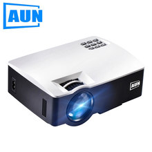 Aun led proyector akey1 para teatro em casa, 1800 lumens, suporte completo hd mini projetor(China)