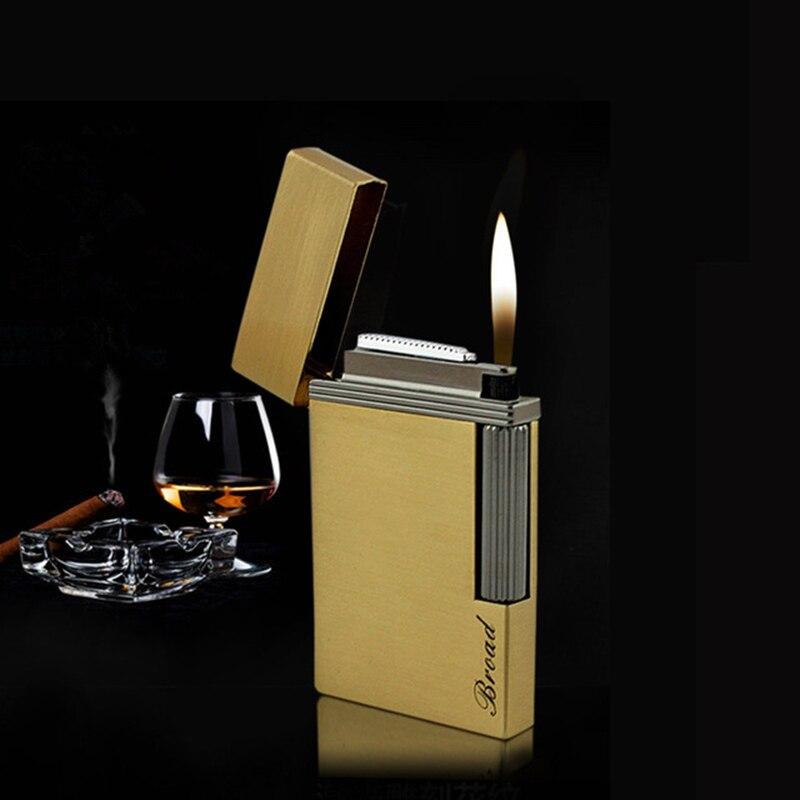 Bussiness Gas Lighter Grinding Jet Gasoline Flint Lighter Butane Metal Gas PING Bright Sound Cigarette Cigar Lighter Inflated in Cigarette Accessories from Home Garden