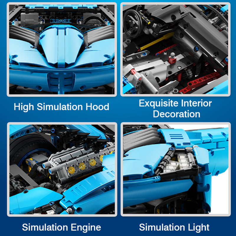 New Speed Building Blocks Sian FKP 37 MOC Vehicle Kit Bricks-nobox