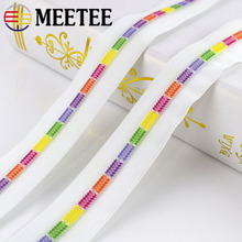Meetee 2/5/10meters 5# White Colored Teeth Coil Nylon Zippers for Sewing Bags Garment Decor Zip DIY Repair Accessories ZA026