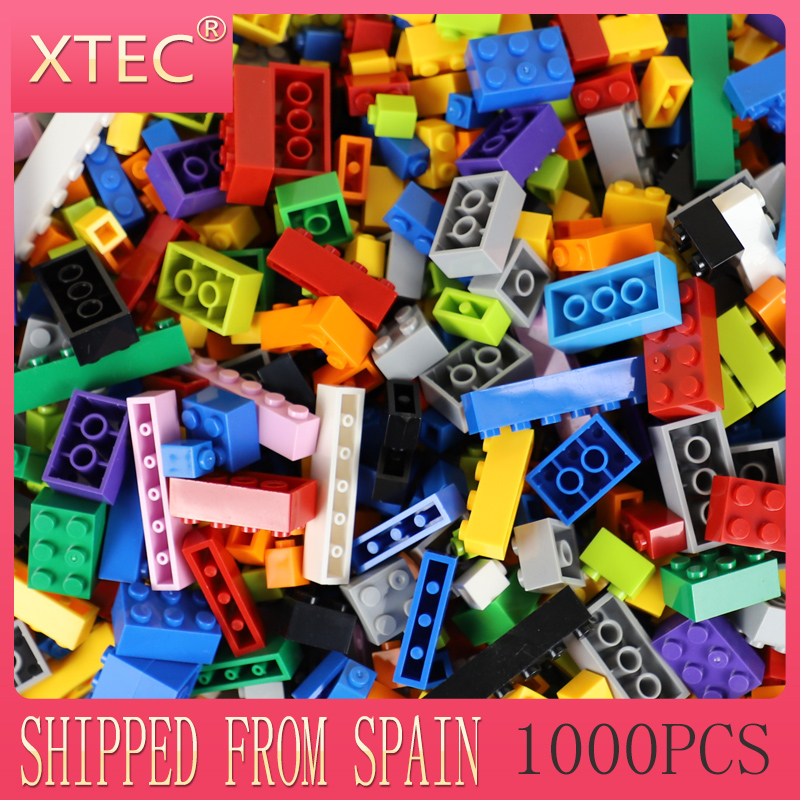 <font><b>1000pcs</b></font> For <font><b>Legoes</b></font> Building Blocks Multi-colors Plastic DIY Assemble Bricks Kids Boys Girls Education Toys Creative Spare Parts image