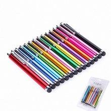 10 шт./компл. емкостная ручка, цветные металлические стилусы для сенсорного экрана, ручки для Iphone XR XS MAX Samsung, смартфона, планшета, Прямая поста...