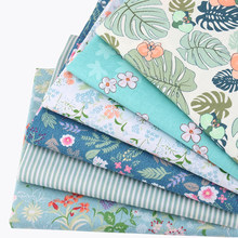Nanchuang 6Pcs/Lot Flowers Twill Cotton Fabric DIY Sewing Quilting Baby&Child Fat Quarters Patchwork Textile Material 20cmx25cm