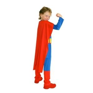 Image 4 - 子供キッズ男の子スーパーヒーロースーパーマンスーパーマン衣装コスプレハロウィンpurimパーティーカーニバルドレスアップB 0023