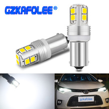 Gzkafolee Niet-polaire BAY9s H21W BAX9s H6W BA9s T4W Canbus Lampen Led Foutloos Reverse Backup Parking Lamp Ijs blauw Wit Rood 12V