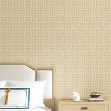 Modern Light Grey Beige Solid Color Straw Wall Papers Home Decor Bamboo Mat Wallpaper for Living Room Bedroom Walls Mural