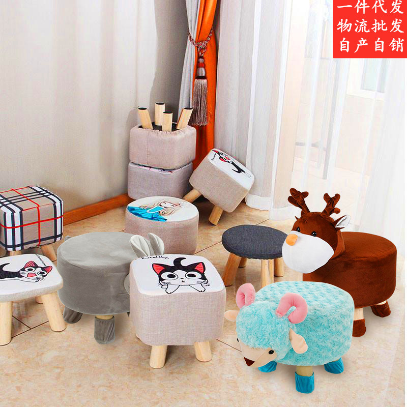 Bench Household Creative Fashion Solid Wood Bench Economy Bedroom Living Room Stool Shoes Stool Baby Short Step Stool For Kids