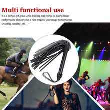 Outdoor Whip Crop Equestrian Faux-Leather Horse-Riding Racing Ergonomic Wear-Resistant