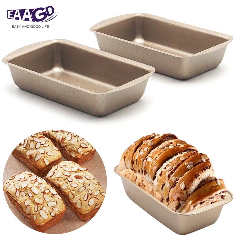 1 adet yapışmaz 5 inç Mini dikdörtgen Loaf Pan  ağır karbon çelik FDA onaylı  fırın kavurma ekmek pişirme kek tava title=