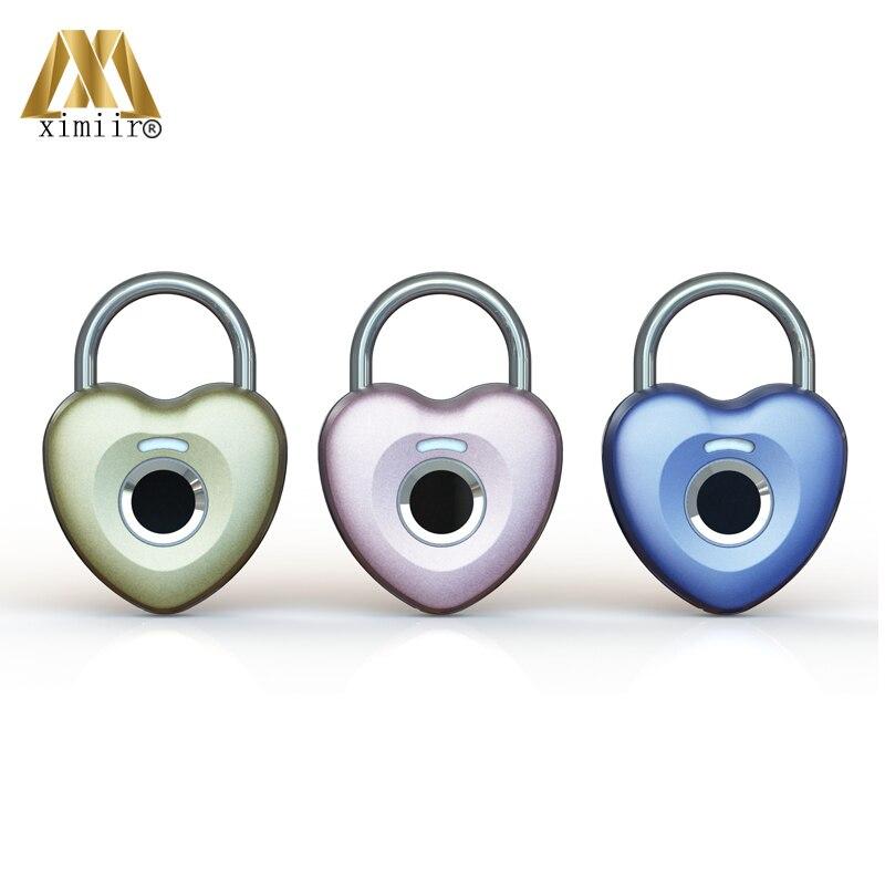 New Arrival Keyless USB Rechargeable Door Lock Fingerprint Smart Padlock Quick Unlock Anti-Theft For Cabinet Bag XM-A9001