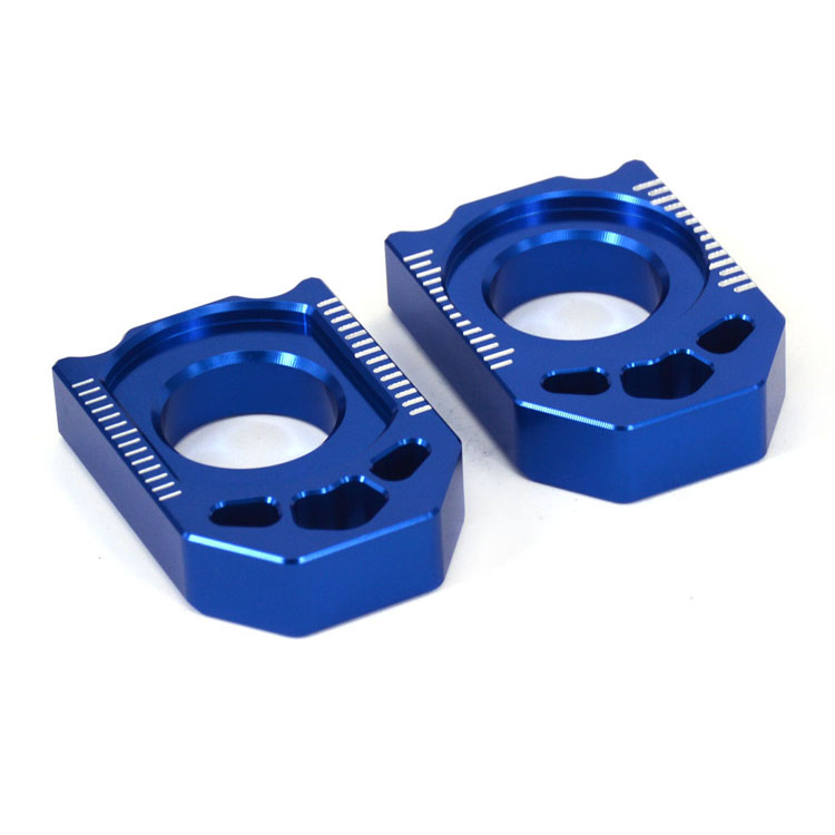 Motorcycle CNC Axle Block Rear Chain Adjuster For YAMAHA YZ125 YZ250 YZ250F YZ450F YZ250X YZ250FX WR250F WR450F WR250R WR250X