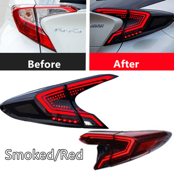 Car Tail Lamp for Toyota C-HR Tail Light 2018 2019 CHR LED Rear Light DRL Dynamic Turn Signal Brake Lights Auto Accessories