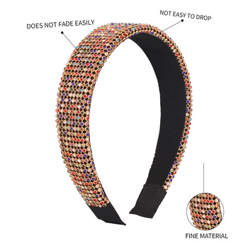 Full Luxury Padded Bling Crystal Rhinestone Wide Hairband 6