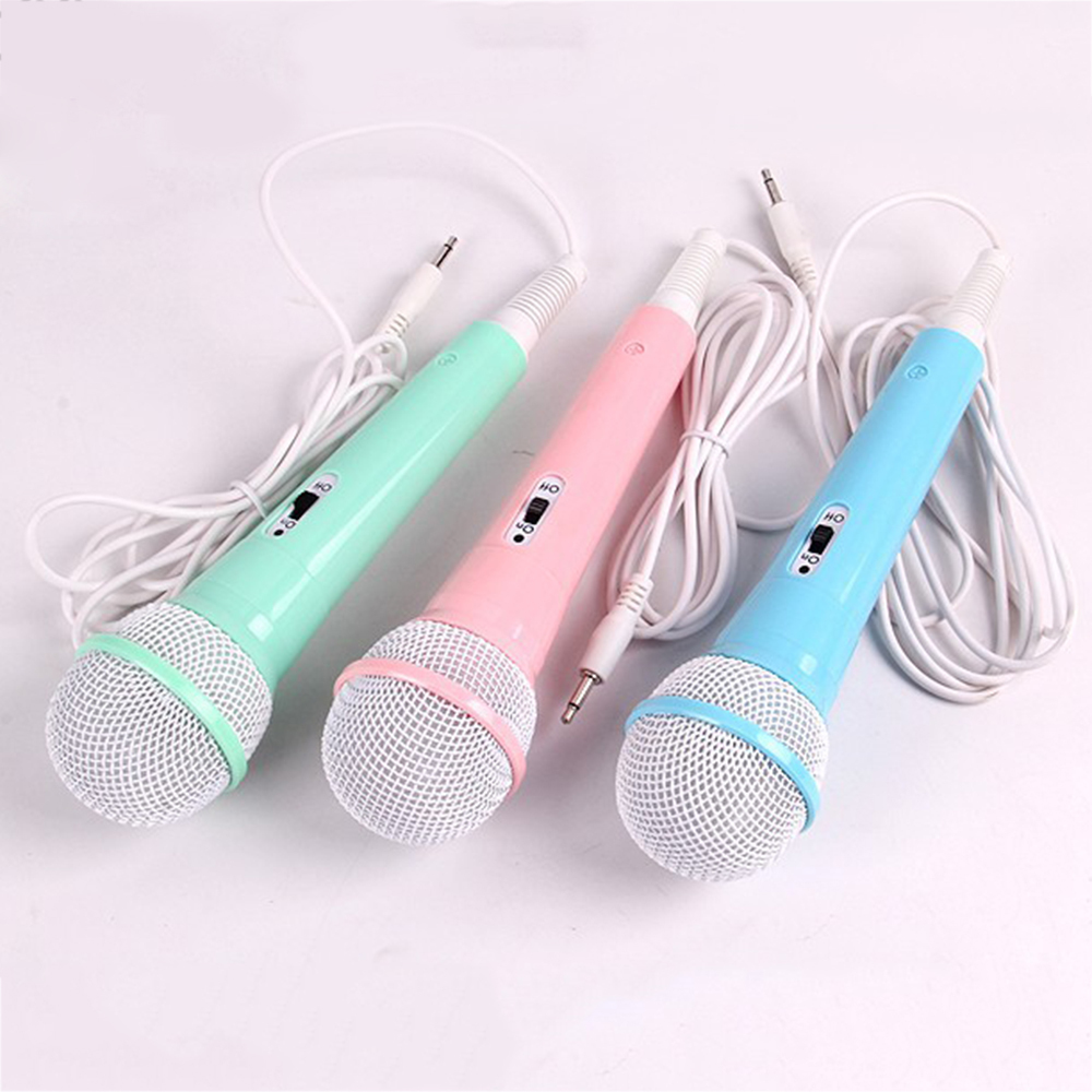 Kids Christmas Gift Children Wired Microphone Toy Musical Instrument Karaoke Singing Kid Funny Gift Music Toy Microphone Toys