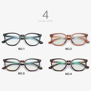 Image 4 - AEVOGUE gafas de protección contra luz azul para hombre y mujer, anteojos ópticos con montura graduada, gafas poligonales AE0787
