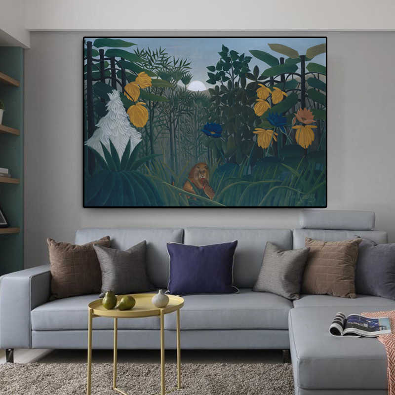 Canvas Painting Fallout Cuadros Henri Rousseau Famous Painting Abstract Landscape Wall Pictures For Living Room Decor Wall Art