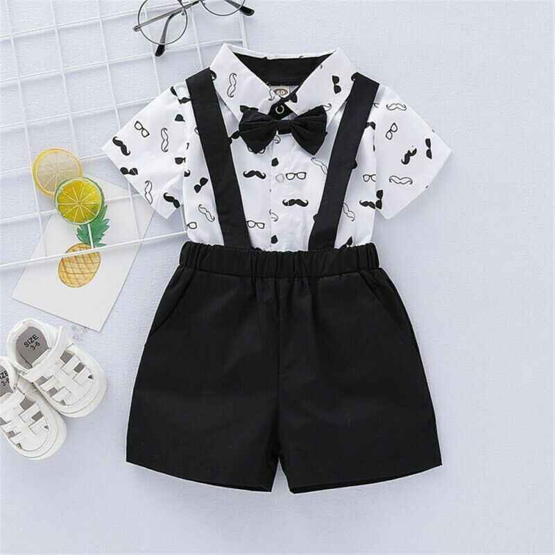 2019 Toddler Baby Boy Wedding Christening Formal Party Bow Tie Suit Outfit Tuxedo 0-24m