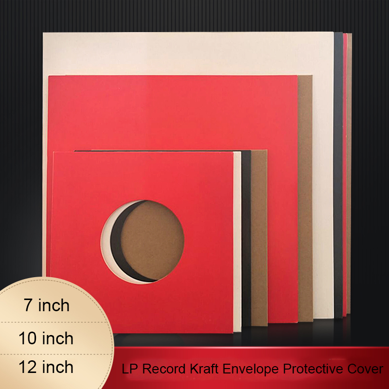 LEORY 10pcs Kraft Paper Inner Sleeves LP Vinyl Record Protection Bag For 7/10/12 Inch Turntable LP Vinyl Rounded Corners