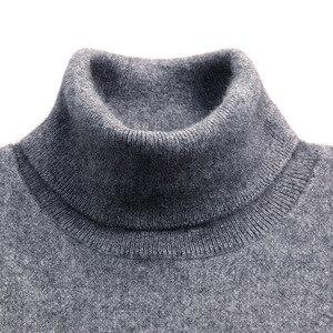 Turtleneck Men Cashmere Cotton Blend Pullover Jumper 2020 Autumn Winter Vetement Homme Ropa Hombre Pull Homme Hiver Sweater