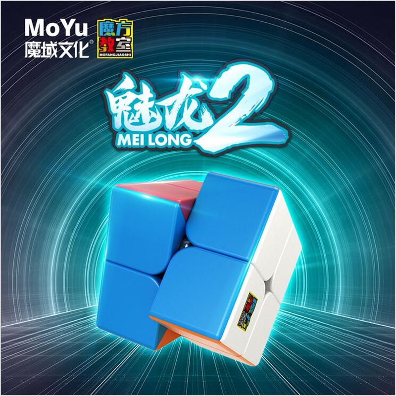New Accive MoYu 2x2x2 Meilong Magic Cube Stickerless Puzzle Cubes Professional Speed Cubo Magico Educational Toys For Students