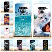 For LG V50 ThinQ 5G Case Soft TPU Silicone LM-V500N LM-V500EM Cover Cartoon Pattern Bag