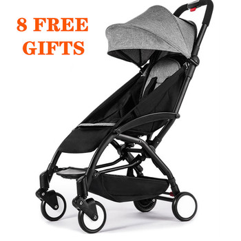 цена Original yoyaplus Stroller Lightweight Can Sit&Lie 175 degree Folding Stroller Ultra-light Portable Traveling Baby Stroller онлайн в 2017 году