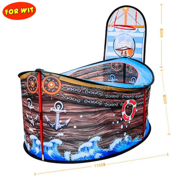 New Children Pirate Ship Ball Pits, Kids Game Room Play House Good for Baby Indoor Outdoor Playpen with Ball Basket, Tent Pool new pirate ship children s tent game house marine ball pool indoor game tent toy house game fence for baby gifts