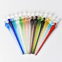 Винтажная Хрустальная стеклянная ручка для подписи деловой подарок