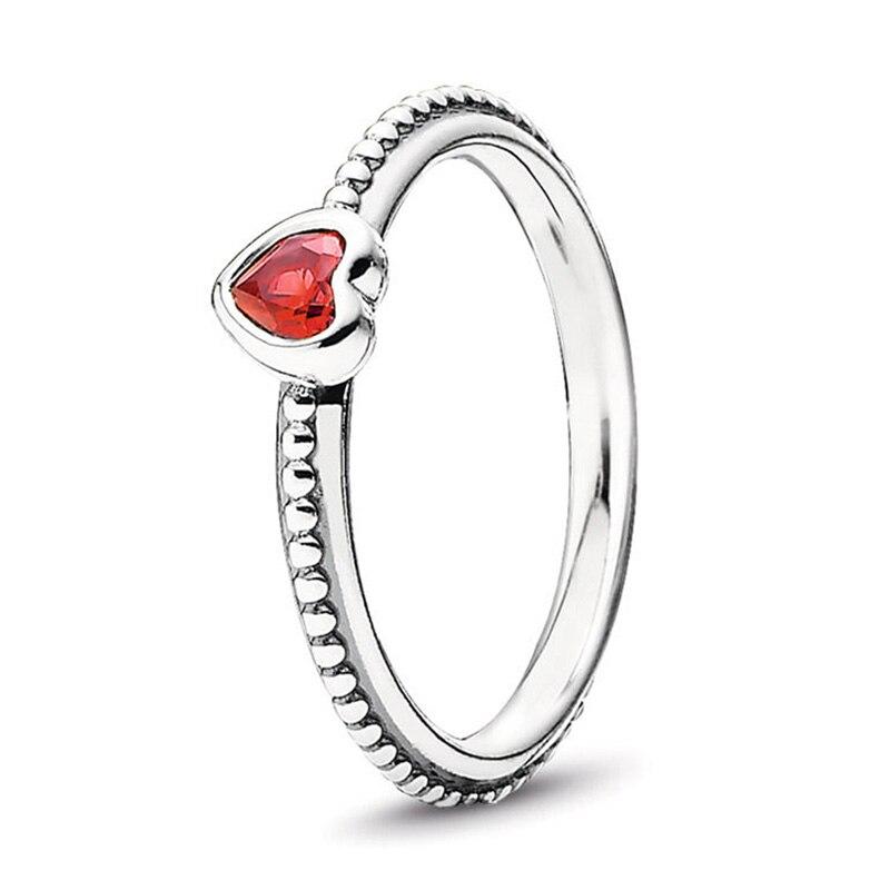 Кольцо на палец в форме сердечко серебряного цвета для женщин, европейская оригинальная Корона, изящные кольца на палец, свадебные украшения, 50 стилей, Прямая поставка - Цвет основного камня: Rings 021