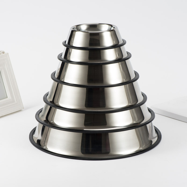 Stainless Steel Pet Dog Bowl Non-slip Durable Anti-fall Dogs Feeding  5