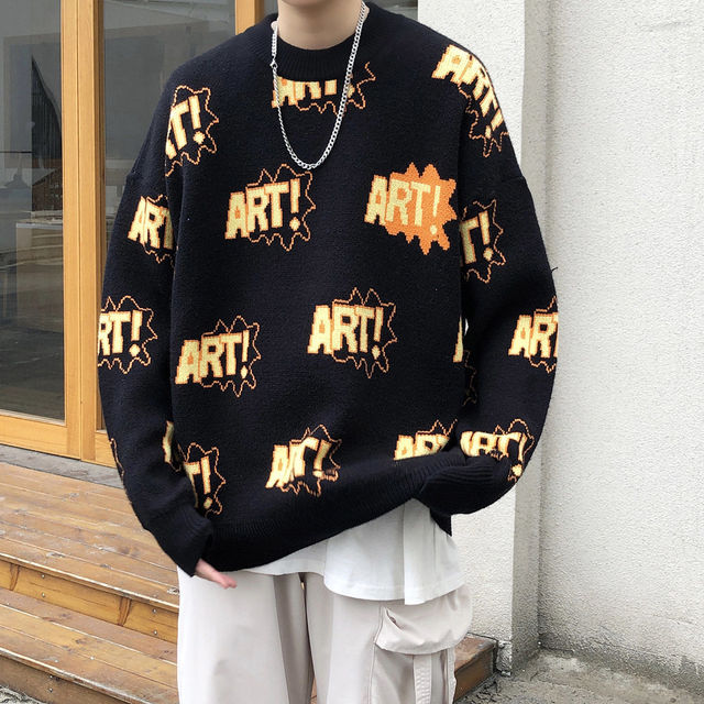 Privathinker 2020 Autumn New Sweater Fashion Casual Woman Pullovers Winter Korean Streetwear Graphic Printed Male Clothing