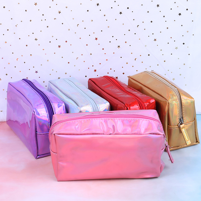 5 Colors Laser Cosmetic Bag Fashion Holographic Makeup Pouch Laser Zipper Toiletry Cases Makeup Bag Pencil Case