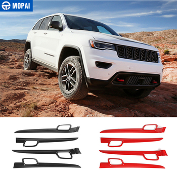 MOPAI Car Stickers for Jeep Grand Cherokee 2011 Car Inner Door Handle Decoration Cover Accessories for Jeep Grand Cherokee 2011+