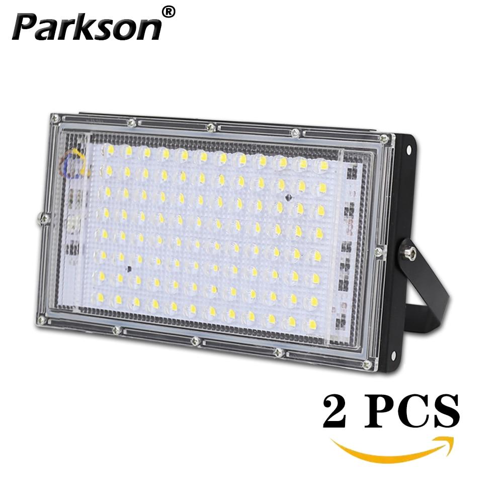 2pcs lot LED Floodlight 100W AC 220V Waterproof Outdoor Lights Lighting Projector LED Flood Light Outside Streetlight Spotlight