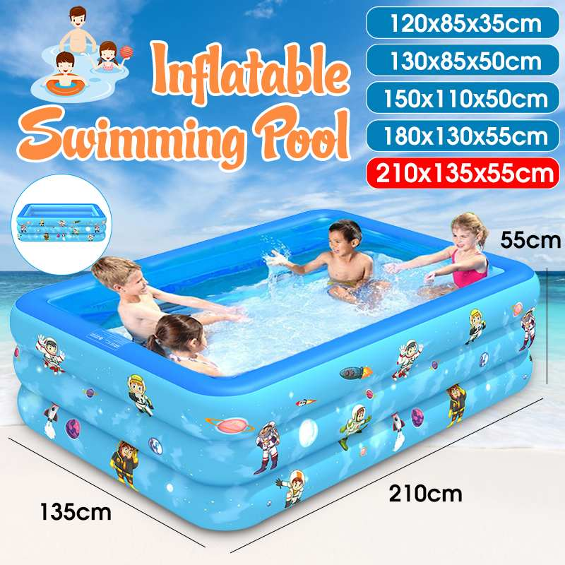 Swimming-Pool Bathing-Tub Outdoor Inflatable Kids Summer Rectangular for 180/210cm