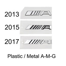 Tronco traseiro emblema decalque letras logotipo rótulo emblema para mercedes benz amg w204 w205 w211 w212 w213 etiqueta do carro estilo