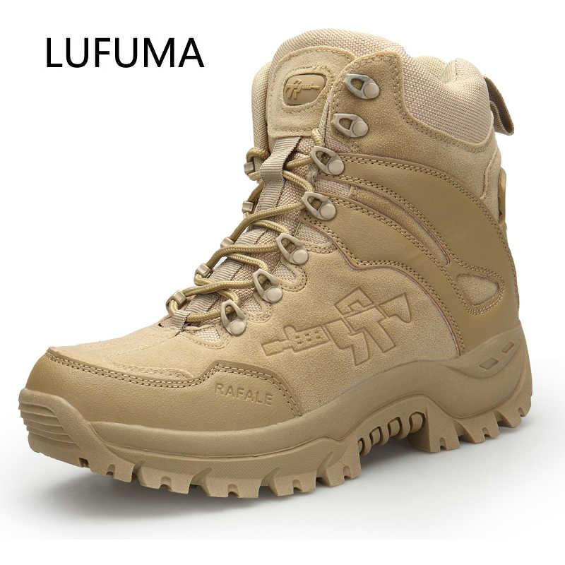 LUFUMA mannen Militaire boot Combat Heren Chukka Enkellaars Tactical Big Size Army Boot Mannelijke Schoenen Veiligheid Motocycle Laarzen