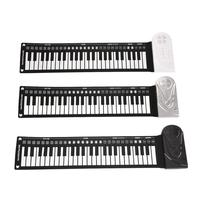 Portable 49 Keys Flexible Roll Up Electronic Piano Soft 3 AA (Batteries are not included) Silicone Keyboard 6