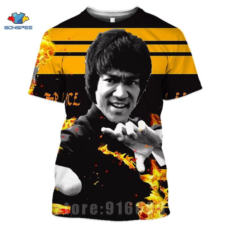 Kung Fu Superstar Bruce Lee 3D Print Casual T-Shirt Men Women Short Sleeve Tops