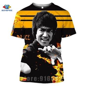 Martial Arts Shirt 3d Print T Shirt Men Women T-shirts Fashion Kung Fu Hero Bruce Lee Harajuku Tees Funny Shirts Homme Tshirt wall hanging bruce lee kung fu dragon tapestry