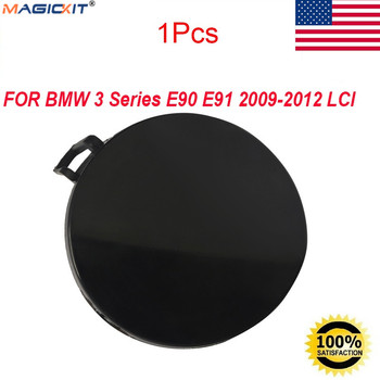 MagicKit 1x Primed Front Bumper Tow Eye Hook Cover for BMW 3 Series E90 E91 2009-2012 LCI image