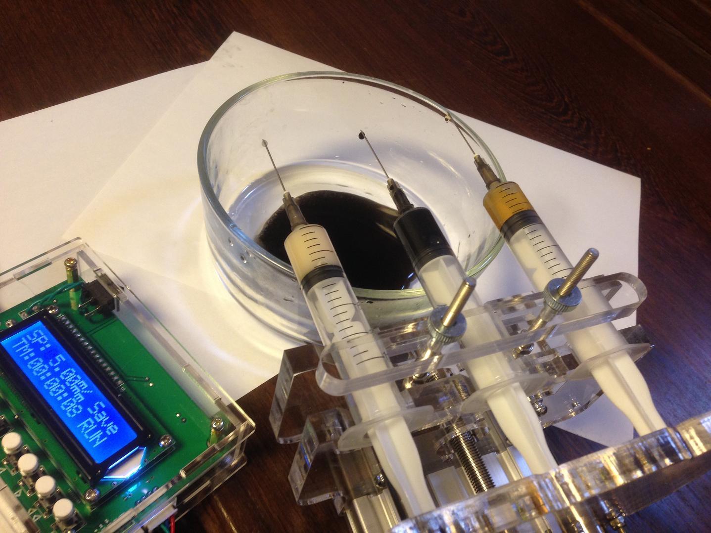 Pump Syringe  Syringe Thruster Syringe Pump Dispenser  Micro    Laboratory  Three-channel