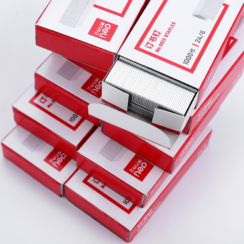 Deli 0012 Staples 12 # Universal Staples 1000/Box May Make 25 Pieces Of Paper