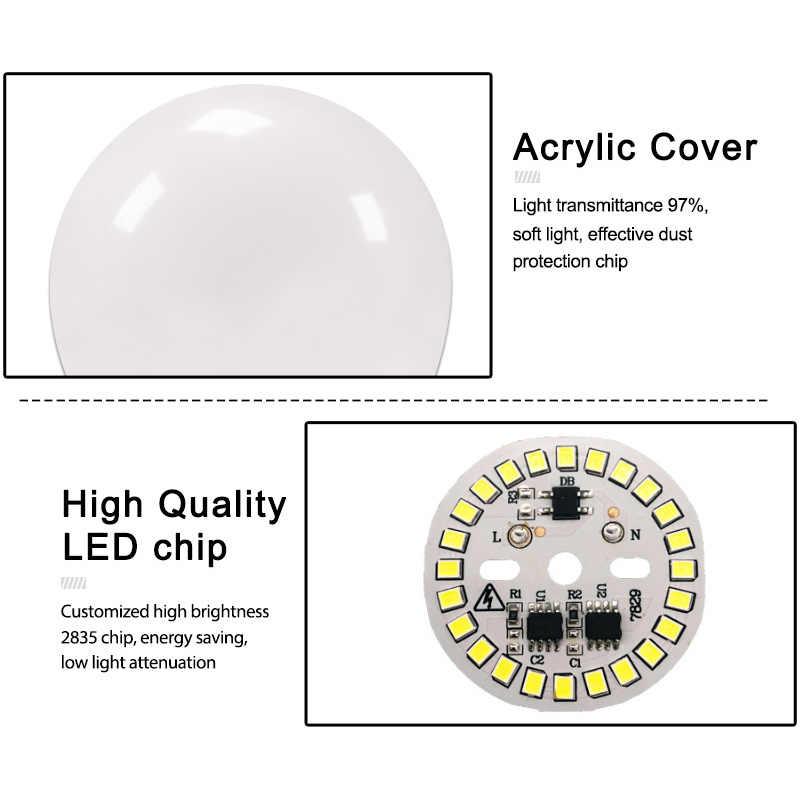 6 uds bombilla LED E27 E14 3W 6W 9W 12W 15W 18W 20W AC 220V 240V lámparas LED lampara de mesa de aluminio lámpara Bombilla led Bombillas