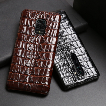 Leather Phone Case For Xiaomi Redmi Note 9S 8 7 6 5 K30 Mi 9 se 9T 10 Lite A3 Mix 2s Max 3 Poco F1 X2 X3 F2 Pro Crocodile Tail