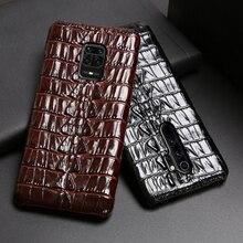 עור טלפון מקרה עבור Xiaomi Redmi הערה 9 S 8 7 6 5 K30 Mi 9 se 9T 10 לייט A3 לערבב 2s מקסימום 3 Poco F1 X2 X3 F2 פרו תנין זנב