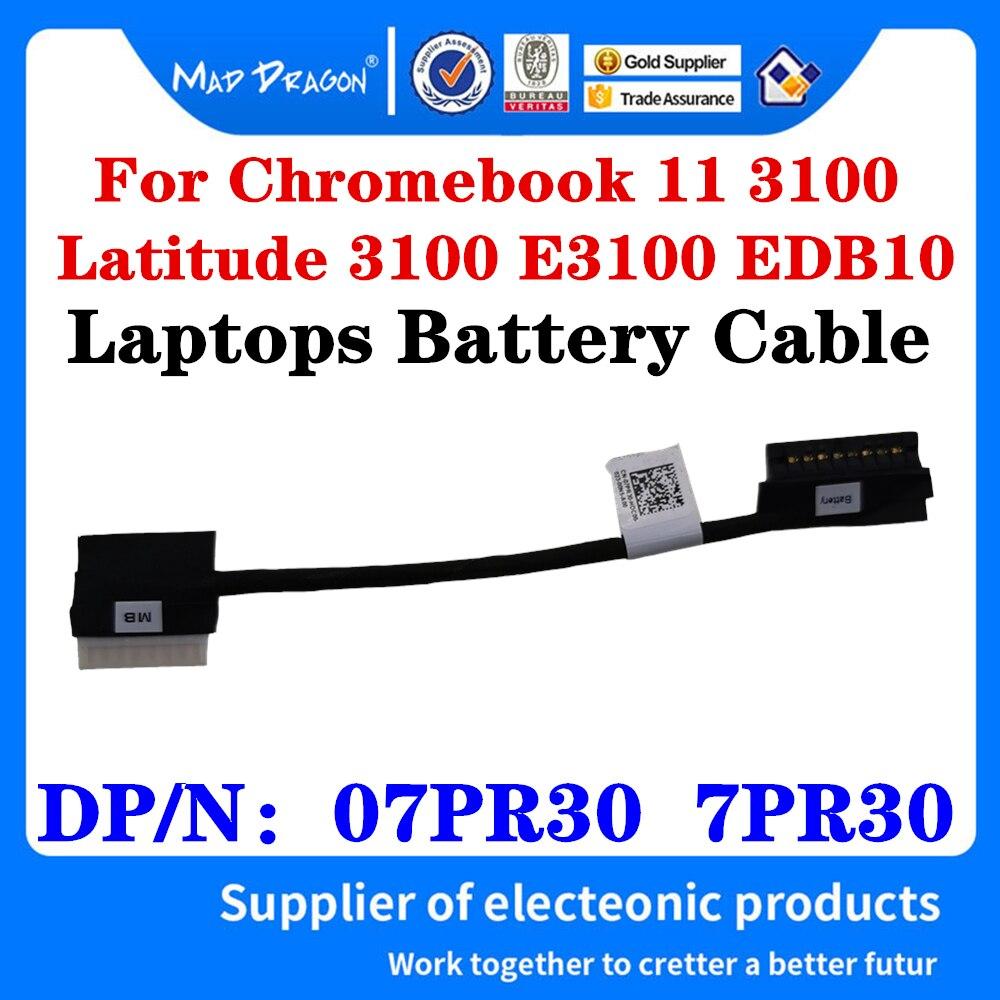 Новый оригинальный провод батареи для Dell Chromebook 11 3100 Latitude 3100 EDB10 ноутбука кабель батареи 07PR30 7PR30 DC02003KL00