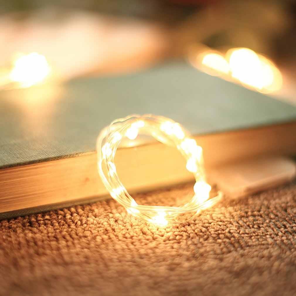Diy led pena bateria operado luzes da corda decoração led para o natal guirlanda ano novo casamento